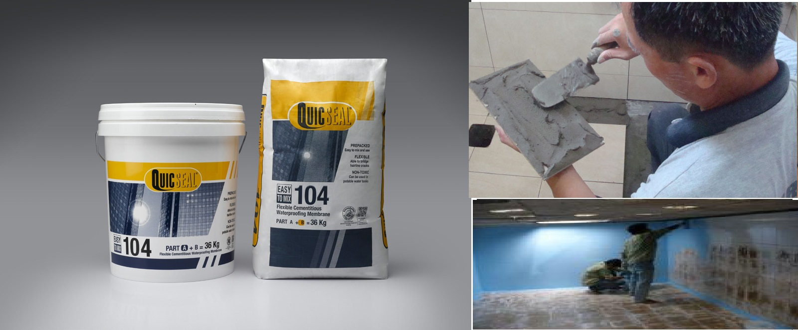 Apartment toilet waterproofing with Quicseal 104s